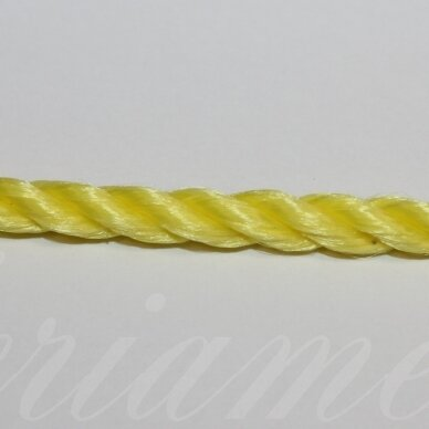 vrsuk0035 apie 5 mm, geltona spalva, sukta virvutė, 1 m.
