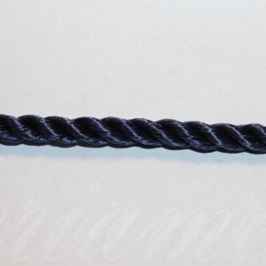 VRSUK0037 apie 5mm, mėlyna spalva, sukta virvutė, apie 150 m.