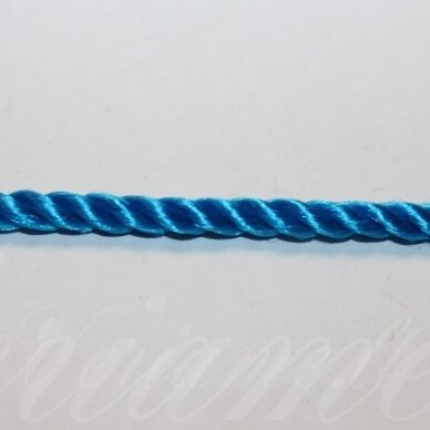 vrsuk0039 apie 5 mm, mėlyna spalva, sukta virvutė, apie 150 m.
