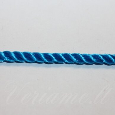 vrsuk0039 apie 5mm, mėlyna spalva, sukta virvutė, 1 m.