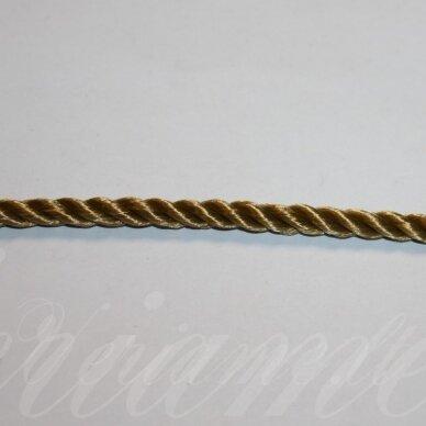 vrsuk0040 apie 5 mm, tamsi, geltona spalva, sukta virvutė, 1 m.