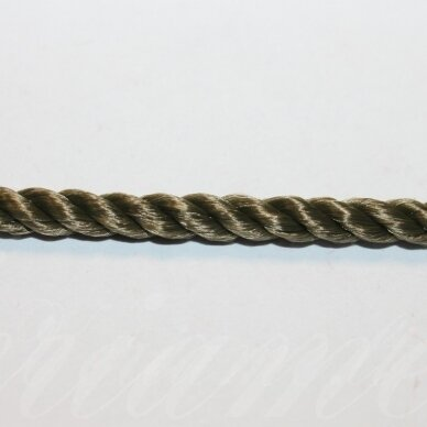 vrsuk0041 apie 5 mm, žalsva spalva, sukta virvutė, 1 m.