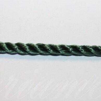 vrsuk0042 apie 5mm, žalia spalva, sukta virvutė, apie 150 m.
