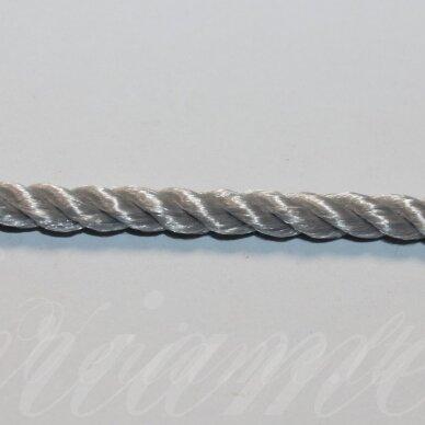vrsuk0043 apie 5mm, pilka spalva, sukta virvutė, 1 m.