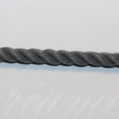 vrsuk0044 apie 5 mm, tamsi, pilka spalva, sukta virvutė, 1 m.
