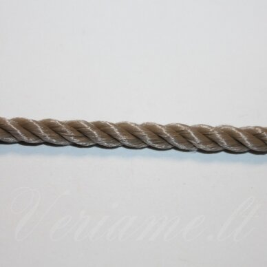 vrsuk0046 apie 5mm, šviesi, ruda spalva, sukta virvutė, 1 m.