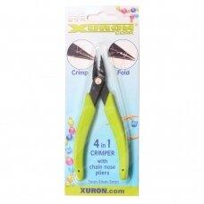 Xuron® 4 viename (4-in-1) suspaudimo replės smaila nosimi