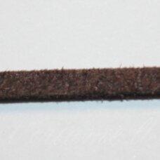 zj0015-3x2 apie 3 x 2 mm, ruda spalva, zomšinė juostelė, 1 m.