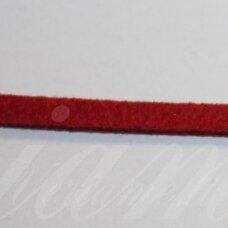 zj0021-2.5x2 apie 2.5 x 2 mm, raudona spalva, zomšinė juostelė, apie 1 m.