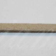 zj0022-2.5x2 apie 2.5 x 2 mm, rusva spalva, zomšinė juostelė, apie 90 m.
