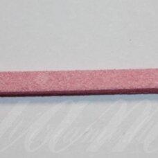 zj0023-2.5x2 apie 2.5 x 2 mm, šviesi, rožinė spalva, zomšinė juostelė, apie 1 m.
