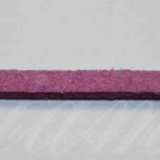 zj0024-2.5x2 apie 2.5 x 2 mm, alyvinė spalva, zomšinė juostelė, apie 1 m.