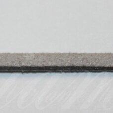 zj0025-2.5x2 apie 2.5 x 2 mm, šviesi, pilka spalva, zomšinė juostelė, apie 90 m.
