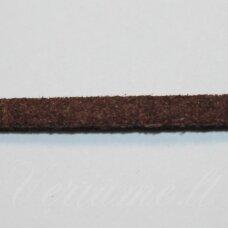 zj0028-2.5x2 apie 2.5 x 2 mm, ruda spalva, zomšinė juostelė, apie 1 m.