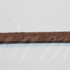 zj0029-2.5x2 apie 2.5 x 2 mm, ruda spalva, zomšinė juostelė, apie 1 m.