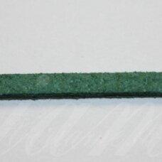 zj0032-2.5x2 apie 2.5 x 2 mm, žalia spalva, zomšinė juostelė, apie 90 m.