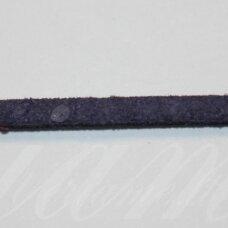 zj0033-2.5x2 apie 2.5 x 2 mm, tamsi, mėlyna spalva, zomšinė juostelė, apie 90 m.