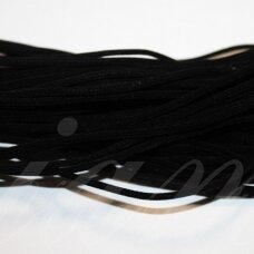 zjtusc0100-2.5 about 2.5 mm, black color, round, hollow, chamois strip, 1 m.
