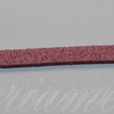 zj0007-2x3 apie 2 x 3 mm, rožinė spalva, zomšinė juostelė, 1 m.