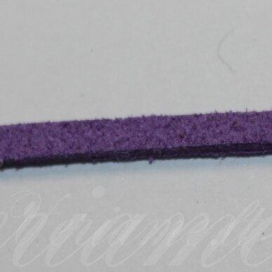 zj0008-2x3 apie 2 x 3 mm, violetinė spalva, zomšinė juostelė, 1 m.