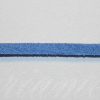 zj0018-1.5x2.5 apie 1.5 x 2.5 mm, mėlyna spalva, zomšinė juostelė, 1 m.