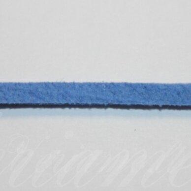 zj0018-3x2 apie 3 x 2 mm, mėlyna spalva, zomšinė juostelė, 1m.