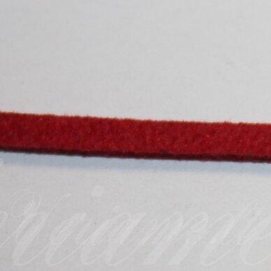 zj0021-2.5x2 apie 2.5 x 2 mm, raudona spalva, zomšinė juostelė, apie 90 m.