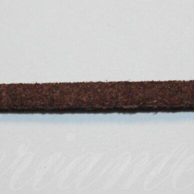 zj0028-2.5x2 apie 2.5 x 2 mm, ruda spalva, zomšinė juostelė, apie 90 m.