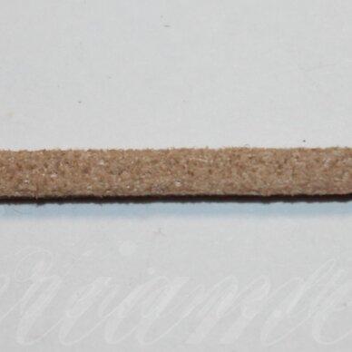zj0031-2.5x2 apie 2.5 x 2 mm, šviesi, ruda spalva, zomšinė juostelė, apie 90 m.