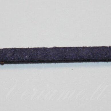 zj0033-2.5x2 apie 2.5 x 2 mm, tamsi, mėlyna spalva, zomšinė juostelė, apie 1 m.