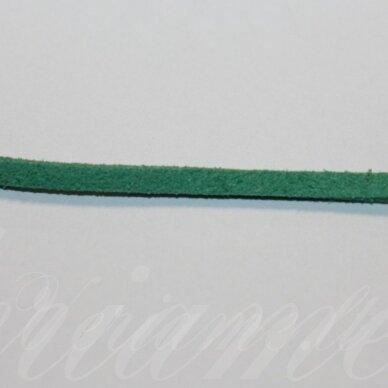 zj0035-1.5x2.5 apie 1.5 x 2.5 mm, šviesi, žalia spalva, zomšinė juostelė, apie 1 m.