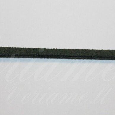 zj0036-1.5x2.5 apie 1.5 x 2.5 mm, samaninė spalva, zomšinė juostelė, apie 1 m.