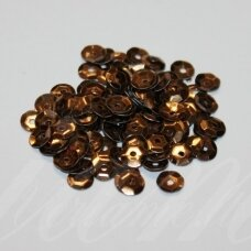 zvy0004- about 6.5 x 0.5mm, disk shape, bronze color, 10 g.