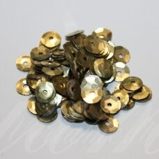 zvy0032- about 6.5 x 0.5mm, disk shape, bronze color, 10 g.