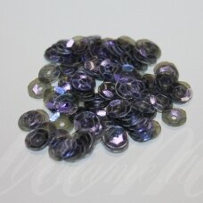 zvy0036- about 6.5 x 0.5mm, disk shape, transparent, dark, blue color, 10 g.