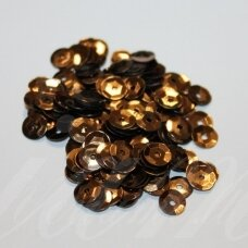 zvy0039- about 6.5 x 0.5mm, disk shape, bronze color, 10 g.