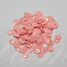 zvy0045- about 6.5 x 0.5mm, disk shape, light, pink color, 10 g.
