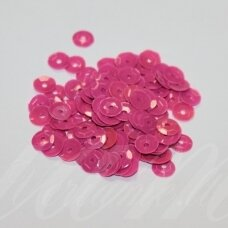 zvy0046- about 6.5 x 0.5mm, disk shape, pink color, 10 g.