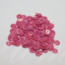zvy0048- about 6.5 x 0.5mm, disk shape, pink color, 10 g.