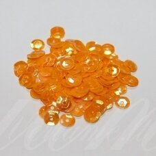 zvy0050- about 6.5 x 0.5mm, disk shape, yellow color, ab cover, 10 g.