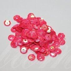zvy0052- apie 6.5 x 0.5 mm, disko forma, rožinė spalva, ab danga, 10 g.