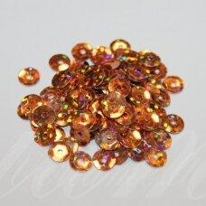 zvy0054- apie 6.5 x 0.5 mm, disko forma, ruda spalva, ab danga, 10 g.