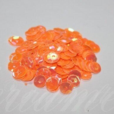 zvy0010- apie 6.5 x 0.5mm, disko forma, oranžinė spalva, 10 g.