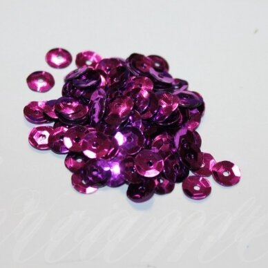 zvy0024- apie 6.5 x 0.5mm, disko forma, violetinė spalva, 10 g.
