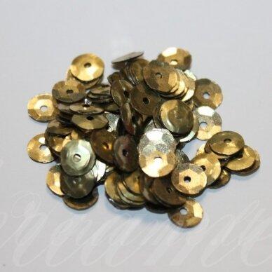 zvy0032- apie 6.5 x 0.5 mm, disko forma, bronzinė spalva, 10 g.