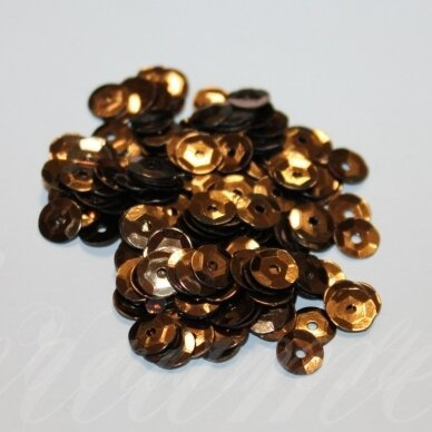 zvy0039- apie 6.5 x 0.5mm, disko forma, bronzinė spalva, 10 g.