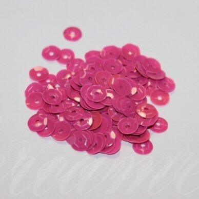 zvy0046- apie 6.5 x 0.5 mm, disko forma, rožinė spalva, 10 g.
