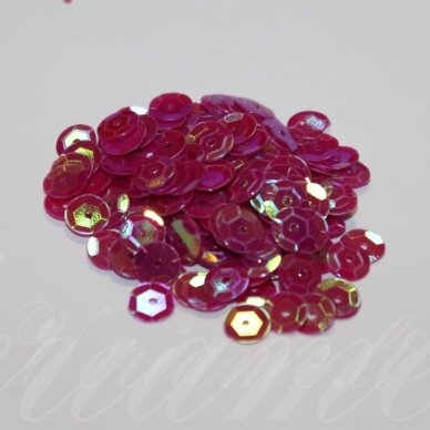 zvy0049- apie 6.5 x 0.5 mm, disko forma, rožinė spalva, ab danga, 10 g.